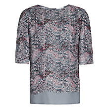 Buy Reiss Chase Printed Top, Multi Online at johnlewis.com