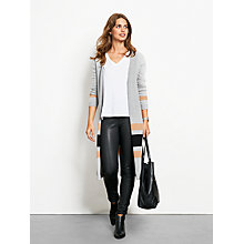 Buy hush Julia Cardigan, Mid Grey Marl/Black/Brown Sugar Online at johnlewis.com