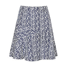 Buy Reiss Gilly Textured Skirt, Night Navy/Off White Online at johnlewis.com