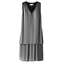 Buy Reiss Nova Pleated Dress, Off White/Black Online at johnlewis.com