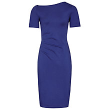 Buy Reiss Milla Pleat-Detail Dress, Sapphire Online at johnlewis.com