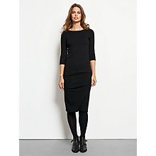 Buy hush Naomi Knitted Dress, Black Online at johnlewis.com