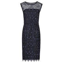 Buy Reiss Kirsty Lace Dress, Night Navy Online at johnlewis.com