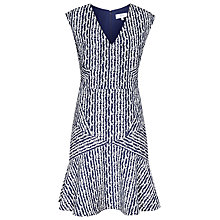 Buy Reiss Gilles Jacquard Dress, Night Navy/Off White Online at johnlewis.com