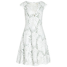 Buy Reiss Hexa Embroidered Fit And Flare Dress, Off White Online at johnlewis.com