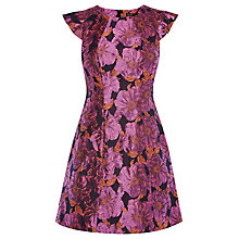 Buy Karen Millen Rose Bouquet Dress, Purple Online at johnlewis.com