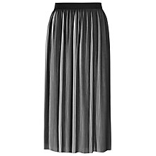 Buy Reiss Adalie Pleated Skirt, Off White/Black Online at johnlewis.com