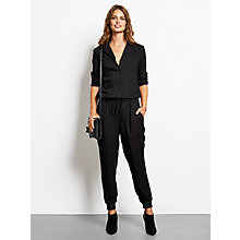 Buy hush Josie Jumpsuit, Black Online at johnlewis.com