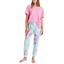 Buy Joules Jess Jersey Pyjama Top, Pink Online at johnlewis.com