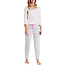 Buy Joules Siesta Jersey Stripe Pyjama Bottoms, Grey Online at johnlewis.com