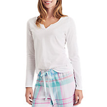 Buy Joules Nita Jersey Pyjama Top, White Online at johnlewis.com