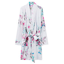 Buy Joules Serena Floral Print Dressing Gown, White Floral Online at johnlewis.com