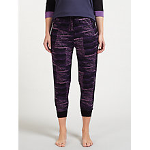 Buy DKNY Printed Cropped Pyjama Bottoms, Purple Online at johnlewis.com