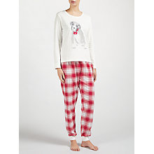 Buy John Lewis Buster the Boxer Dog Pyjama Set, Ivory/Red Online at johnlewis.com