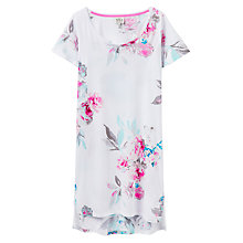 Buy Joules Florian Short Sleeve Night Dress, White Floral Online at johnlewis.com
