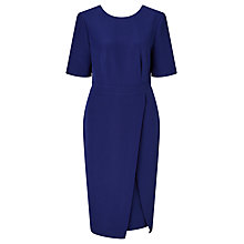 Buy John Lewis Crepe Dress, Sapphire Blue Online at johnlewis.com