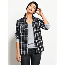 Buy hush Flannel Plaid Flannel Shirt, Black/Ecru Online at johnlewis.com