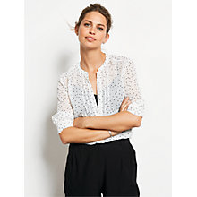 Buy hush Alessia Shirt Blouse, Ecru/Black Star Print Online at johnlewis.com
