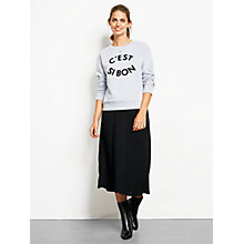 Buy hush Knitted Pleat Skirt, Black Online at johnlewis.com
