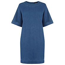 Buy Warehouse Denim Shift Dress, Mid Wash Online at johnlewis.com