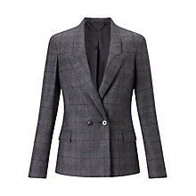 Buy Jigsaw Prince Of Wales London Jacket, Charcoal Online at johnlewis.com