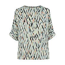 Buy Warehouse Zig Zag Print Top, Multi Online at johnlewis.com