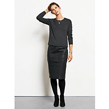 Buy hush Leather Pencil Skirt, Black Online at johnlewis.com