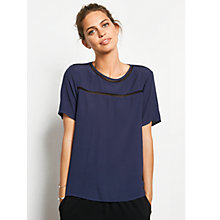 Buy hush Natalie Top, Midnight/Black Online at johnlewis.com