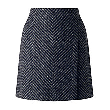 Buy Jigsaw Herringbone Wrap Mini Skirt, Grey Online at johnlewis.com