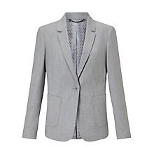 Buy Jigsaw Wool Flannel London Jacket, Pale Grey Online at johnlewis.com
