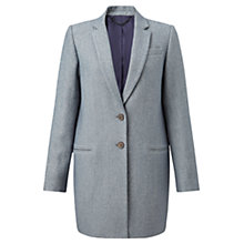 Buy Jigsaw Compact Wool Twill Jacket, Pale Sage Online at johnlewis.com