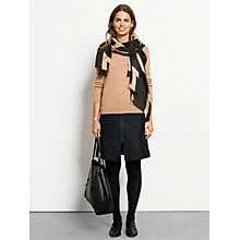 Buy hush Wool Zip Skirt, Black Online at johnlewis.com