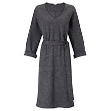 Buy Jigsaw Herringbone Jersey Dress, Charcoal Online at johnlewis.com