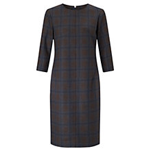 Buy Jigsaw Knitted Milano Check Dress, Charcoal Online at johnlewis.com