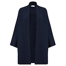 Buy Jigsaw Square Stitch Cardigan, Navy Online at johnlewis.com