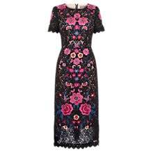 Buy Oasis Embroidered Lace Dress, Multi/Black Online at johnlewis.com