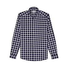 Buy Reiss Figo Pimpernel Check Slim Fit Shirt, Navy Online at johnlewis.com