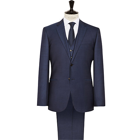 Buy reiss fury wool modern fit three piece suit bright blue online at