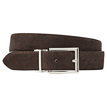 Buy Reiss Mitchell Reversible Suede Leather Belt, Brown Online at johnlewis.com
