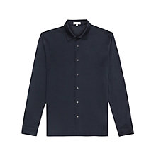 Buy Reiss Figo Chapter Mercerised Cotton Slim Fit Shirt, Navy Online at johnlewis.com