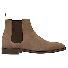 Buy Reiss Tenor Suede Leather Chelsea Boots, Taupe Online at johnlewis.com