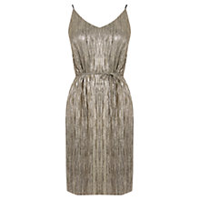 Buy Oasis Metallic Slip Dress, Gold Online at johnlewis.com