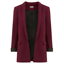 Buy Oasis Textured Jacket, Burgundy Online at johnlewis.com