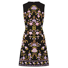 Buy Oasis Embroidered High Neck Dress, Multi Online at johnlewis.com