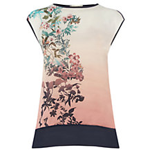 Buy Oasis Far East Woven Front Top, Multi Online at johnlewis.com