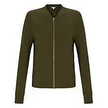 Buy Miss Selfridge Jersey Bomber Jacket Online at johnlewis.com