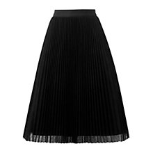 Buy Oasis Luxe Mesh Midi Skirt, Black Online at johnlewis.com