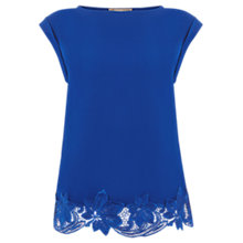 Buy Oasis Lace Hem T-Shirt Online at johnlewis.com