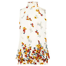 Buy Oasis Border Floral High Neck Top, Multi/Natural Online at johnlewis.com