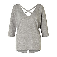 Buy Miss Selfridge Lattice Back Top, Grey Online at johnlewis.com